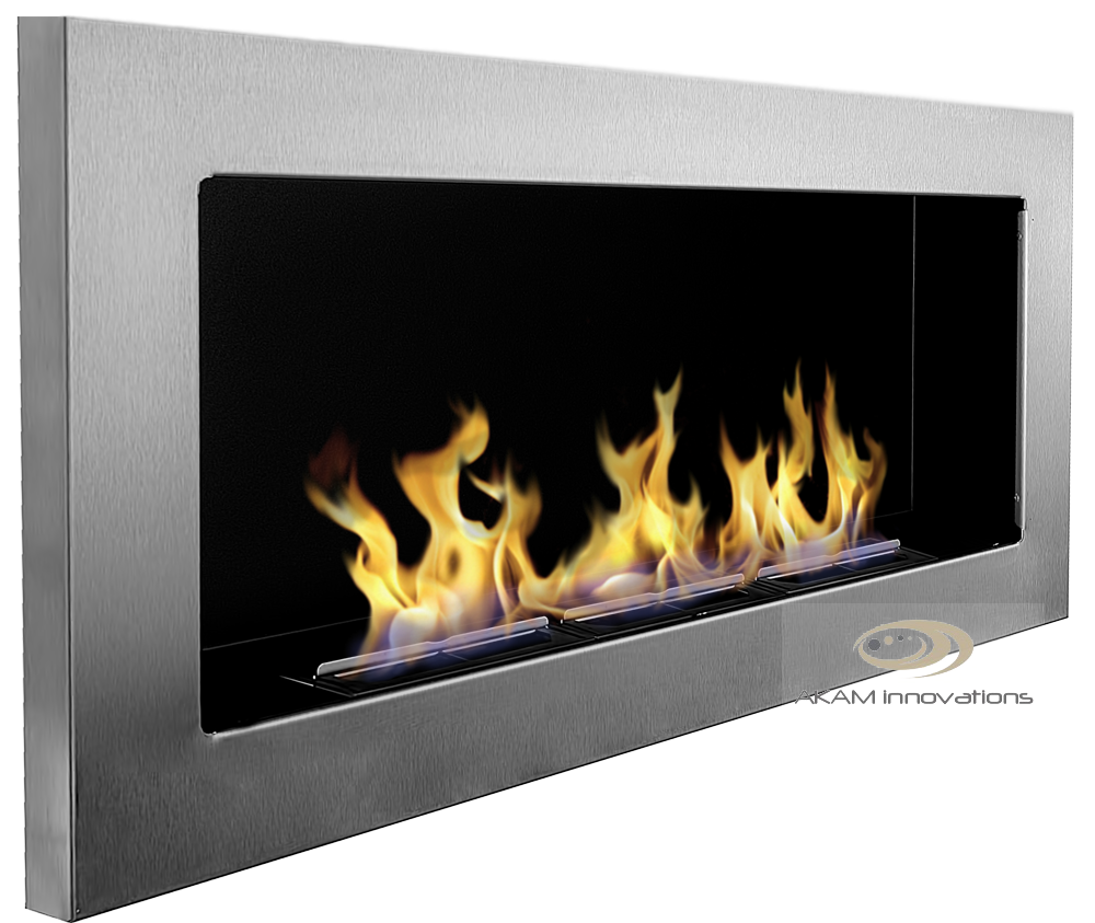 bio ethanol fireplace euphoria eco wall fire burner 90x40cm